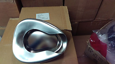 NOS Surplus Army Medical POLAR 1966 Stainless Steel Bed Pan New Bedpan