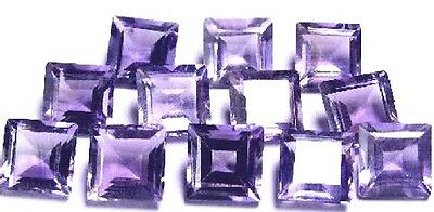 NATURAL AAA PURPLE AMETHYST LOOSE GEMSTONES (5 pieces) PRINCESS/SQUARE CUT