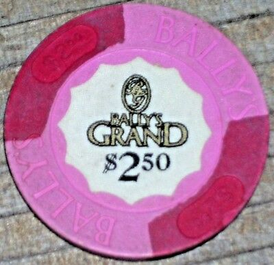 $2.50 1St Edition Gaming Chip From Bally's Grand Casino Atlantic City