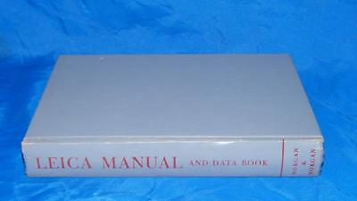 Vintage 1956 Leica Manual And Data Book Camera Morgan Lester + Supplement