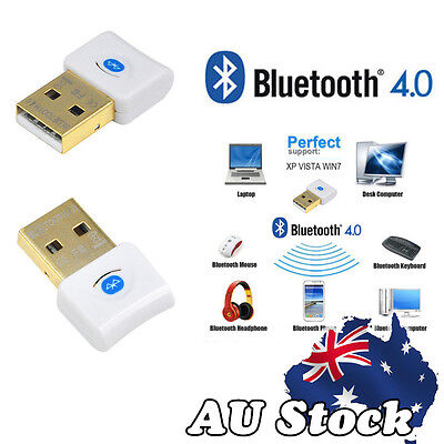 Mini USB Bluetooth V4.0 Dongle Wireless Adapter For PC Laptop 3Mbps Speed AU CE