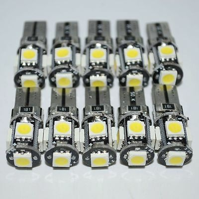 10 T10 Led Canbus Error Free 5 SMD Car Side Wedge light Bulb White 168 194 W5W