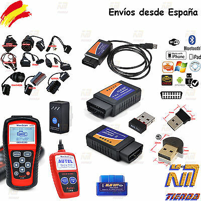 elm327 obd2 diagnosis multimarca cable usb bluetooth wifi scanner ios android