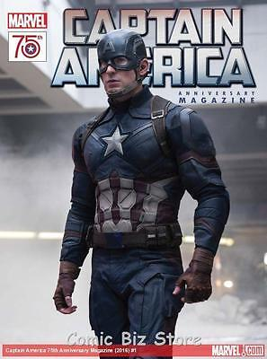 Captain America 75Th Anni Magazine #1 (20016) Movie Cover Superb Magazine!