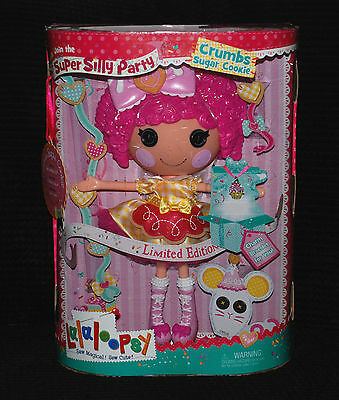 Lalaloopsy Super Silly Party Limited Edition Crumbs Sugar Cookie Large Doll BNIB