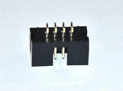 48 pcs 2x4 pin 8P 2.54 Double Row Straight Male Box Header PCB IDC Connector