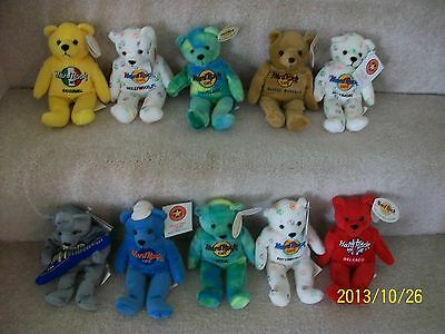 Hardrock , Bears, Hardrock , Mini Collection, 10 Different, Mint Clean