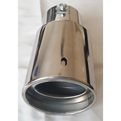 Exhaust Tip Curved Pip Chrome Universal
