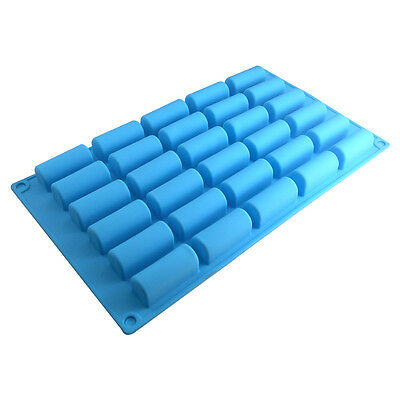 30 Cylinders Silicone Fondant Mould Cake Mold Chocolate Baking Pan DIY Tray Tool