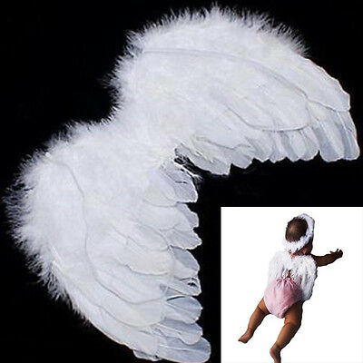 Beautiful Baby Kids White Angel Wings Feather for Party Decoration For Photo