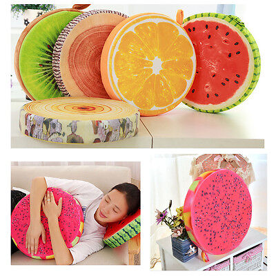 Home Office Soft Round Fruit Pillow Plush Dining Cushion Seat Buttocks Pad AS