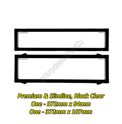 Number Plate Covers 6 Figure Premium & Slimline Black Clear One Pair 6NLP NSW SA