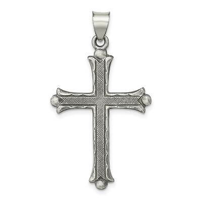 18-Inch Rhodium Plated Necklace with 4mm Zircon Birthstone Beads and Sterling Silver Saint Joseph of Arimathea Charm.