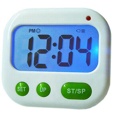 Digital LCD Timer Remind Dual Vibration Alarm Clock/ Count Down Desktop W1E