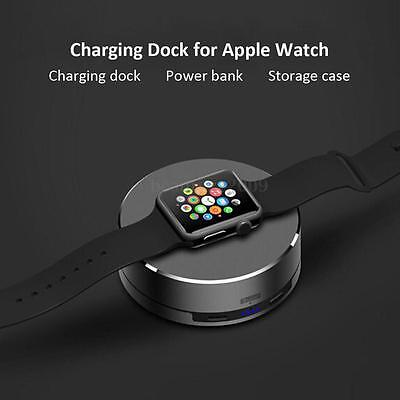 For Apple Watch iWatch 2in1 Wireless Charger Stand Holder + 1500mAh Power Bank