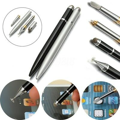 4in1 Precision Metal Disc Capacitive Touch Stylus Pen for iPhone iPad Samsung UK