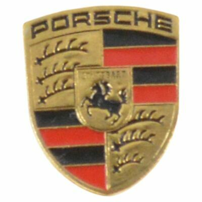 OEM 94453804100 Replacement Small Key Fob Crest Gold Logo for Porsche NEW