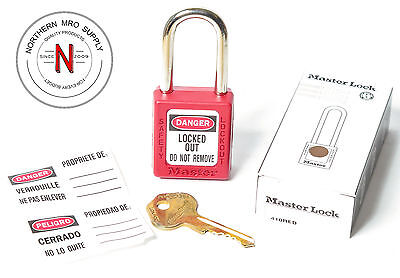 Master Lock Safety Series 410 Zenex Thermoplastic Safety Lockout - Red Or Yellow