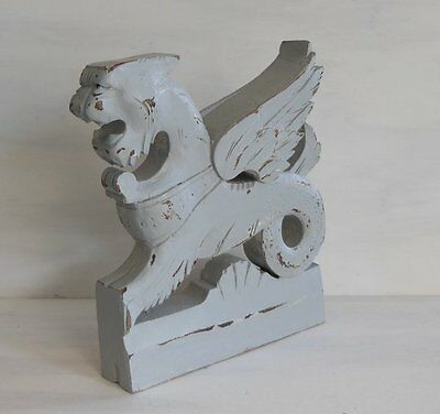 ANTIQUE FRENCH CARVED WOOD CORBEL / WALL SHELF BRACKET Gothic style Griffin