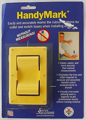 HANDYMARK DRYWALL MARKER Marks Outlet/Switch Box Cutout  NEW