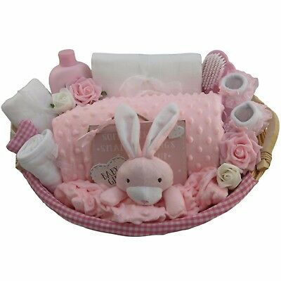 Baby gift basket/hamper girl Flopsy Bunny Peter Rabbit baby shower unique