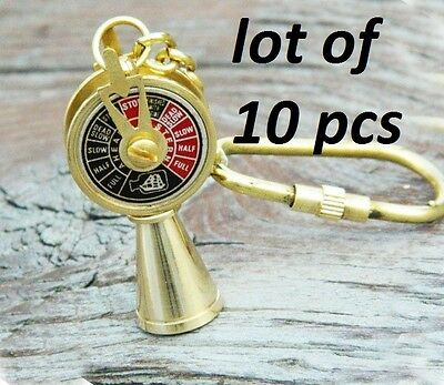 10Pcs Vintage Style Brass Telegraph Necklace Key Ring Gift