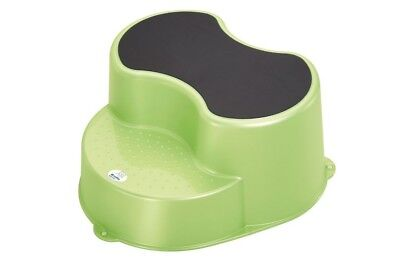 Rotho Babydesign TOP Kinderschemmel Trittschemel Hocker 2-stufig lindgrün perl