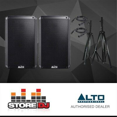 "Alto TS210 10"" Truesonic 2200W Active PA Speaker Pack w/ Stands & Cables"