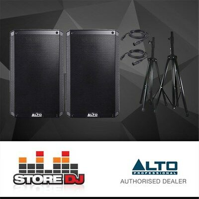 "Alto TS215 15"" Truesonic 2200W Active PA Speaker Pack w/ Stands & Cables"
