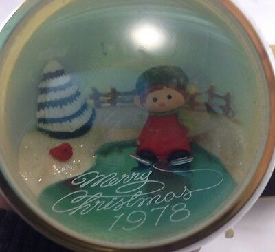 Vintage Hallmark 1978 Christmas Ornament Tree Trimmer Collection Boy on Skates