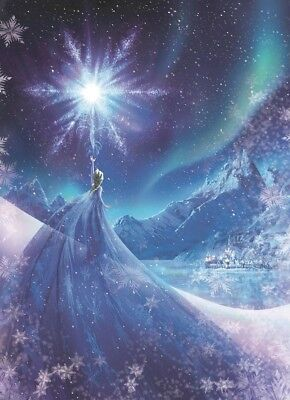 Wall Mural paper wallpaper Disney Frozen Elsa Queen for girls room blue decor