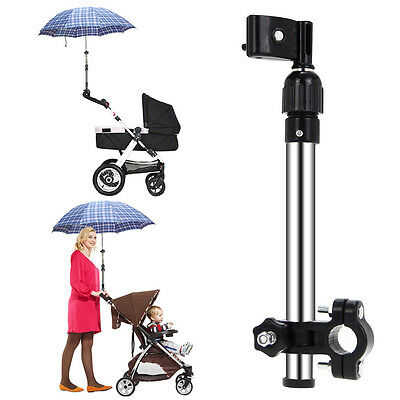 Bicycle Wheelchair Stroller Pram Stretch Umbrella Support Holder Mount Stand