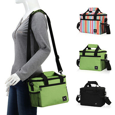 Insulated Lunch Bag Cooler Box Snack Ice Storage With Adjustable Shoulder Strap