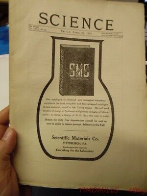 1910 SCIENCE Magazine American Association For The Advancement of Science AAAS