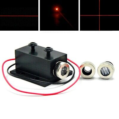 650nm 5mw Focusable Red Laser Dot Line Cross LED Diode Module w/Heatsink 12x35mm