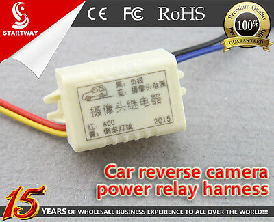 Car Rear View Backup Parking Camera Power Relay Harness For VW BMW Benz Audi