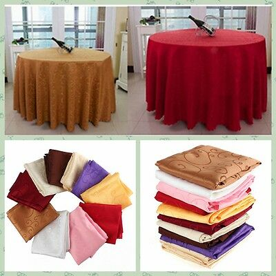 Hot Round Table Cover Tablecloth Pattern Wedding Banquet Party Polyester Linen