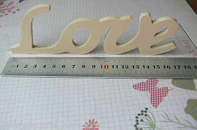 "WOODEN Word Script ""Love"" 175 x 60 x5mm - Ready Color Your Choice Free Standing"