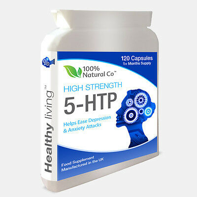 5-HTP 250mg 120 Capsules Fights Depression Insomniac Anxiety