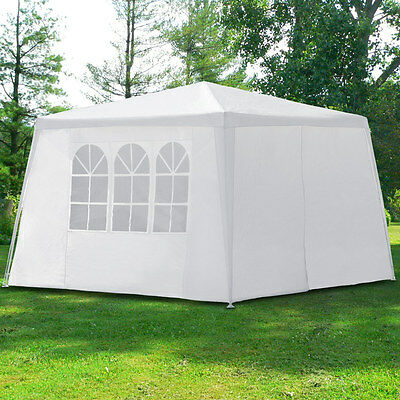 Pavilion 3x3 m + Side Panels Party Tent White Outdoor Garden Gazebo Marquee