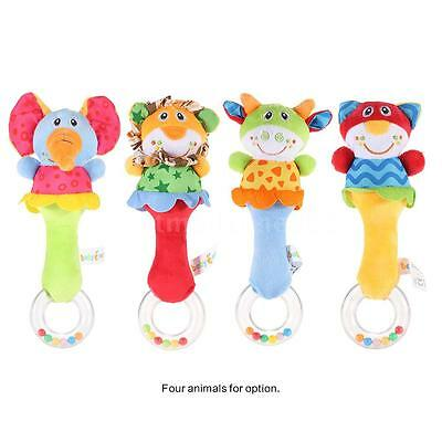 Lovely Animal Baby Rattle Soft Gift Musical Toy for Babies Crib New E5J1
