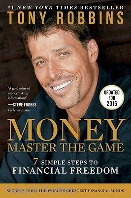 MONEY Master the Game 7 Simple Steps to Financial Freedom Paperback Tony Robbins