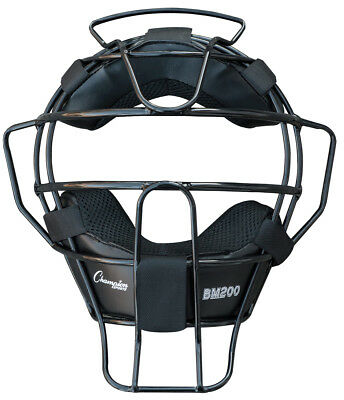 Champion BM200 18 oz. Lightweight Baseball / Softball Umpires Face Mask, Black
