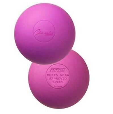 New Champion 2 Pack Official Rubber Lacrosse Balls NFHS & NCAA Approved Purple