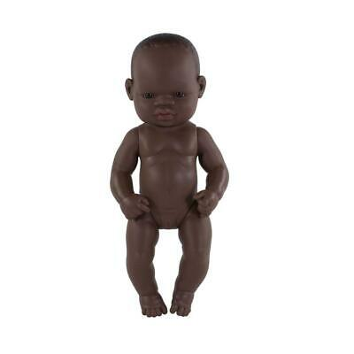 Anatomically Correct Baby Doll 32 cm African Girl - Miniland
