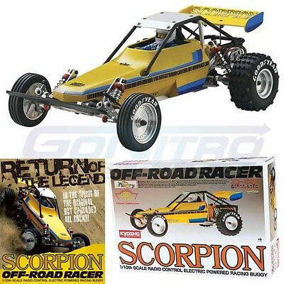 Kyosho 30613B 1/10 Scorpion Off Road Racer Racing Buggy 2014 Kit w/ Clear Body
