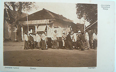 Postcard - Javanese Funeral.probably Early 1900's.brown And White Card.unused