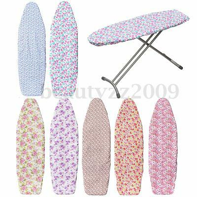 140x50cm Washable Cotton Ironing Iron Board Cover Easy Fit Non Slip Elasticated