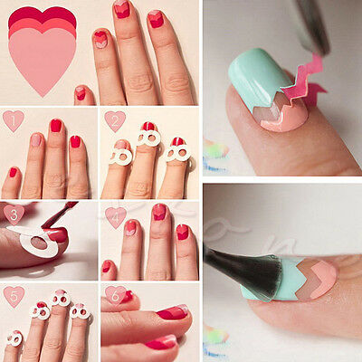 15 X 3D Nail Art Transfer Stickers Design Manicure Tips Decal Decoration Set New