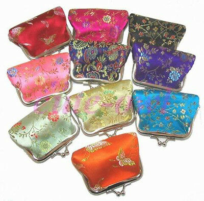 "New 10pcs Chinese Handmade Embroidered /""Fortune/"" Silk Clothes Pouch Shoes Bag"